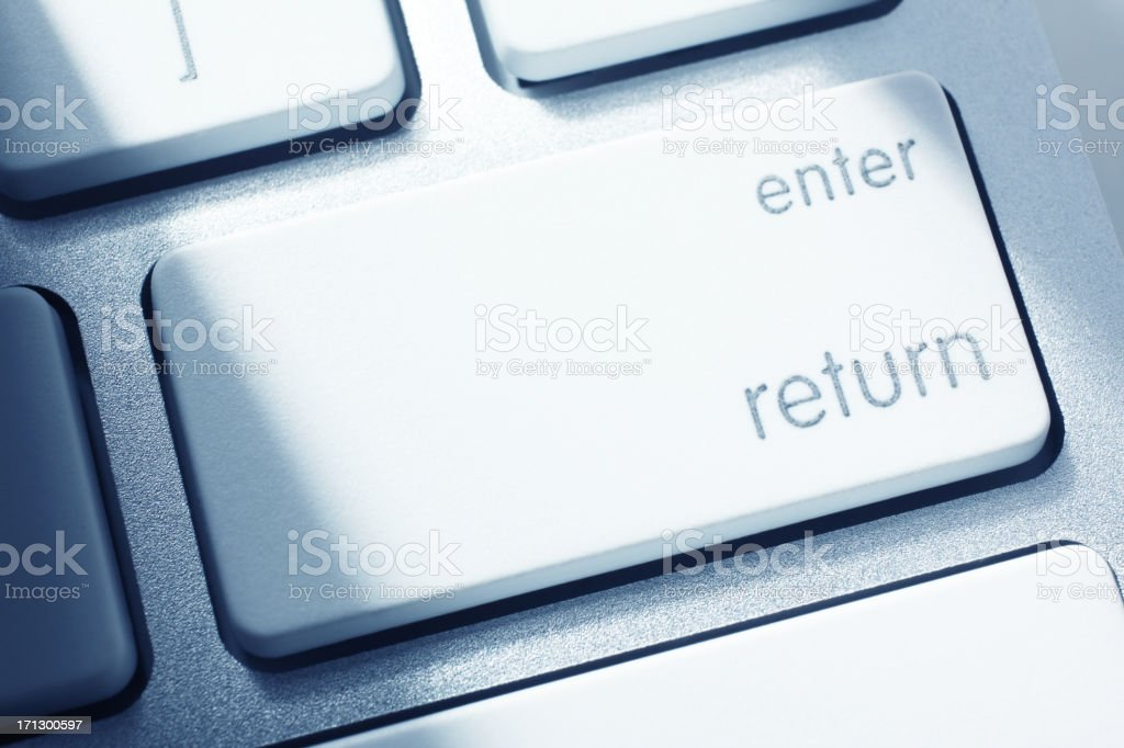 Return Key royalty-free stock photo