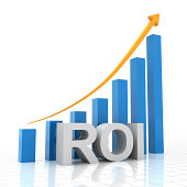 Return on investment chart, 3d render