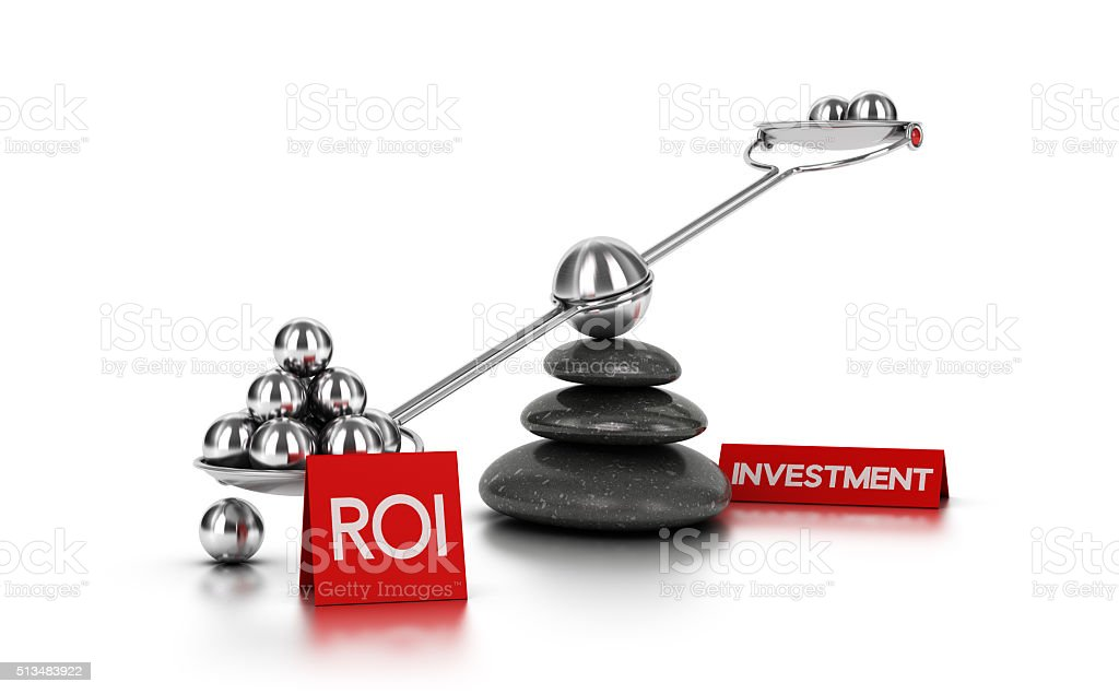 Return on Investment concept stock photo