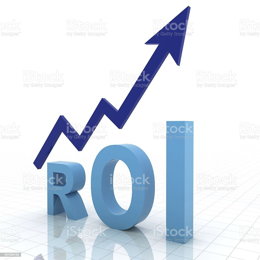 Return on Investment Graph stock photo
