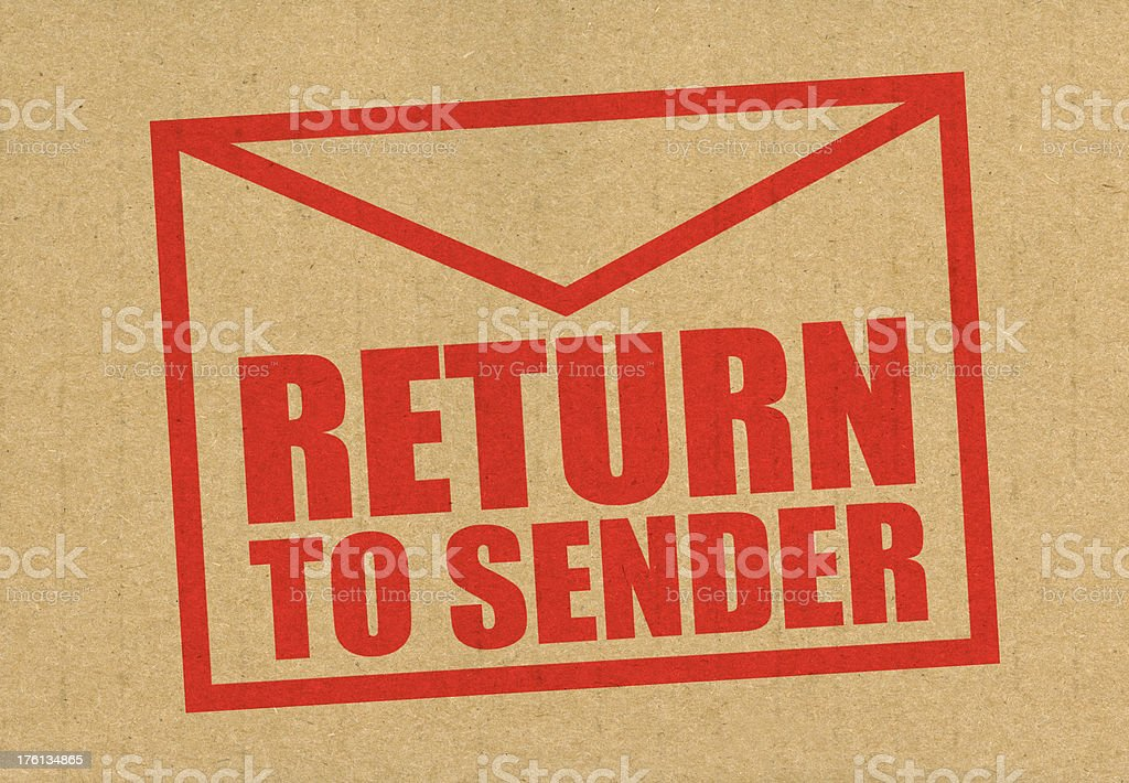 Return to sender mail stock photo