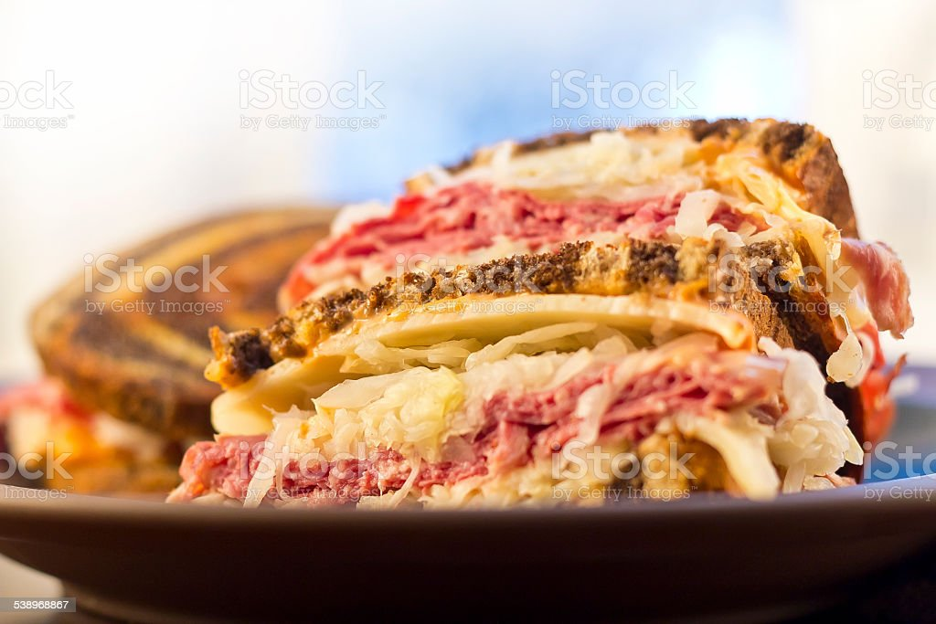 Reuben Chips Pickle stock photo