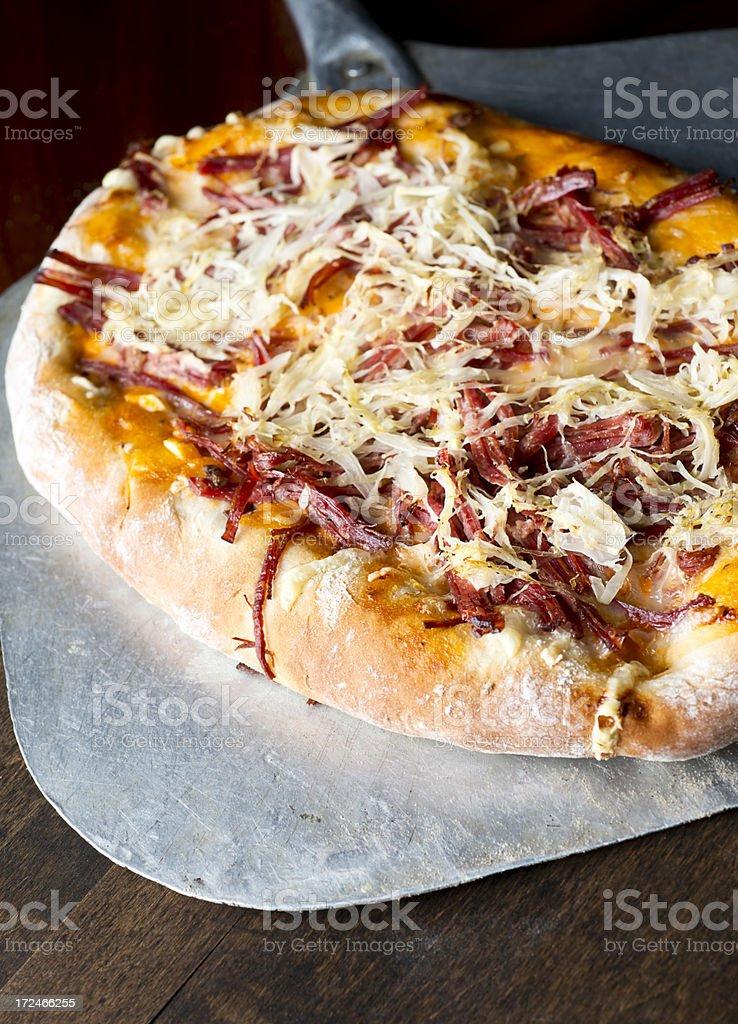 Reuben Pizza stock photo