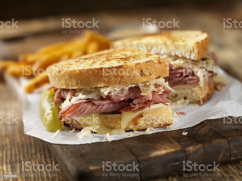 Reuben Sandwich stock photo
