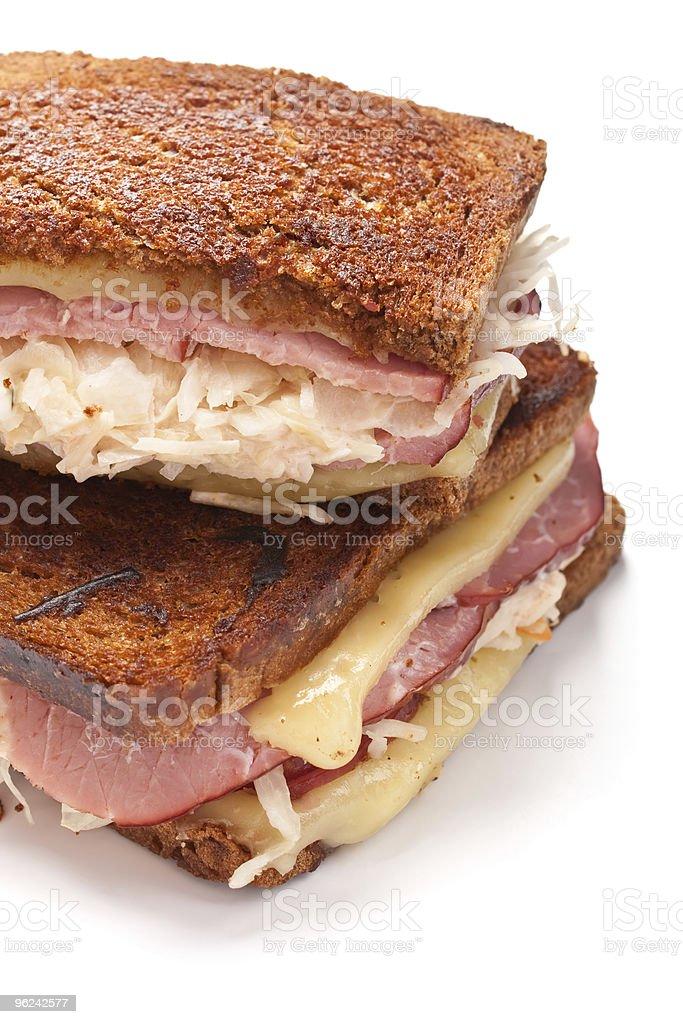 reuben sandwiches stock photo