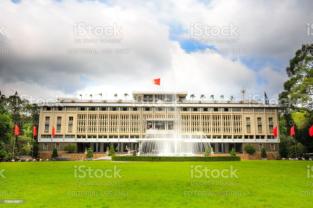 Reunification Palace Ho Chi Minh City stock photo