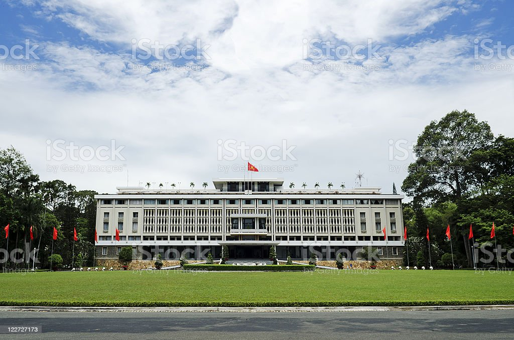 reunification palace ho chi minh city saigon vietnam stock photo