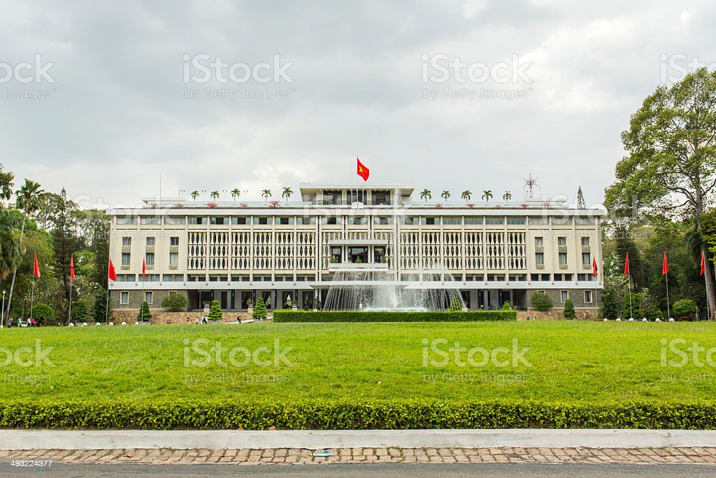 Reunification Palace (Independence Palace) in Ho Chi Minh City, stock photo