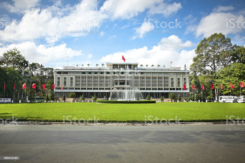 Reunification Palace in Ho Chi Minh City, Vietnam. stock photo