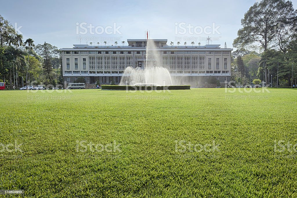 Reunification Palace stock photo