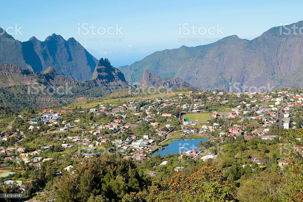 Ile de La Reunion stock photo