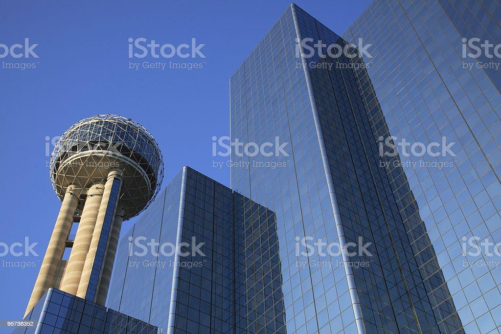 Reunion Tower, Dallas stock photo