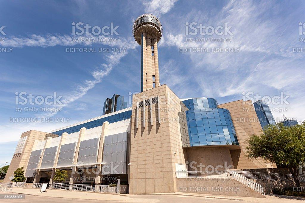 Reunion Tower in Dallas, Tx, USA stock photo