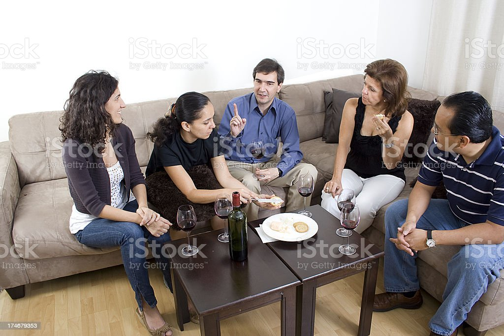 Reunion with friends royalty-free stock photo