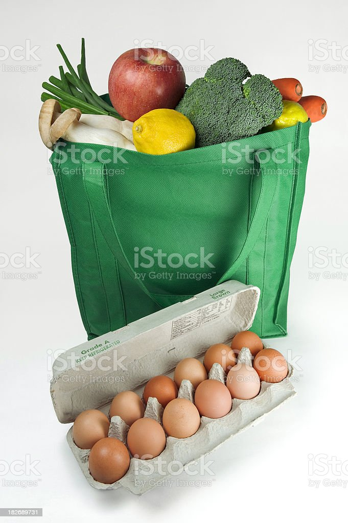 Reusable Eco Friendly Grocery Bag royalty-free stock photo