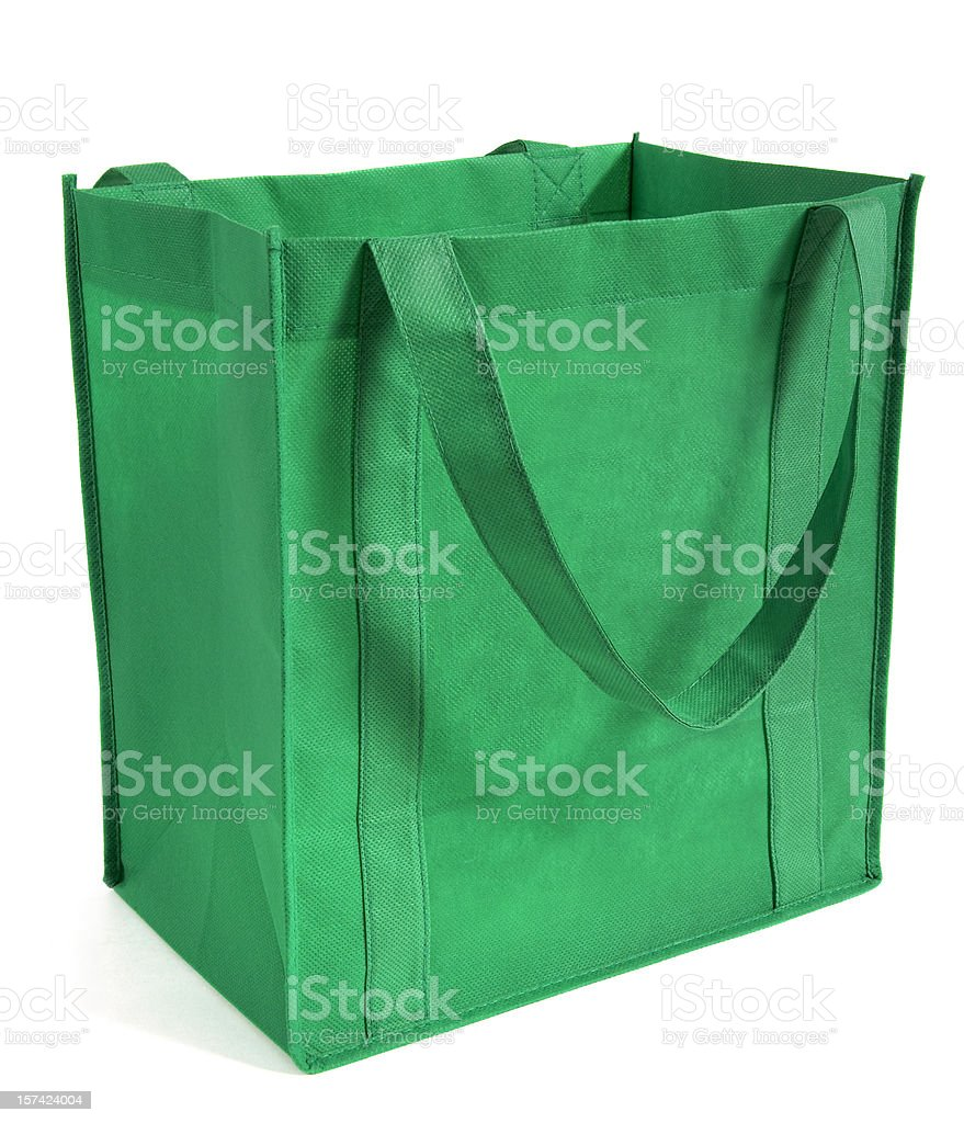 Reusable, Green Shopping Bag stock photo