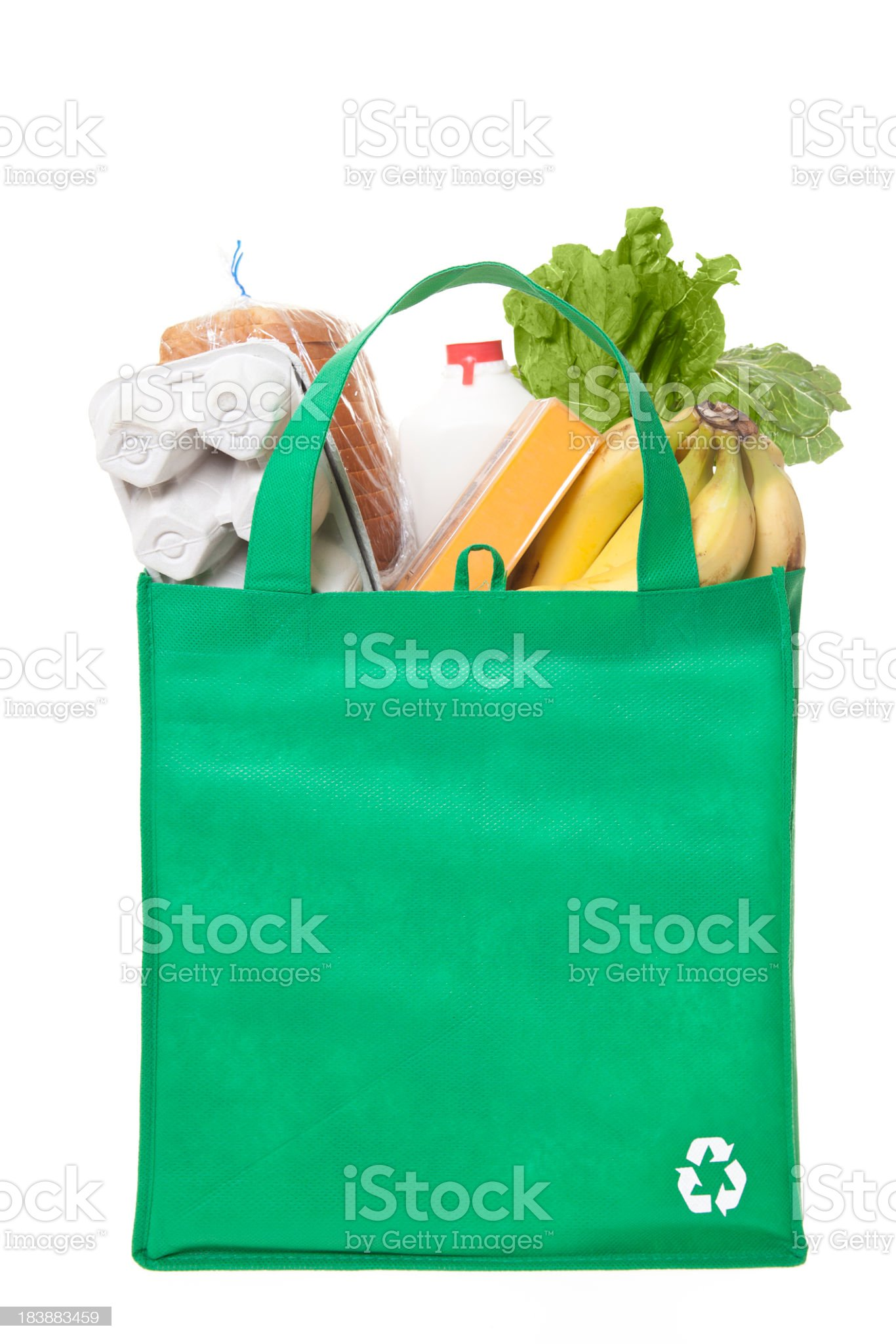 reusable grocery bag royalty-free stock photo