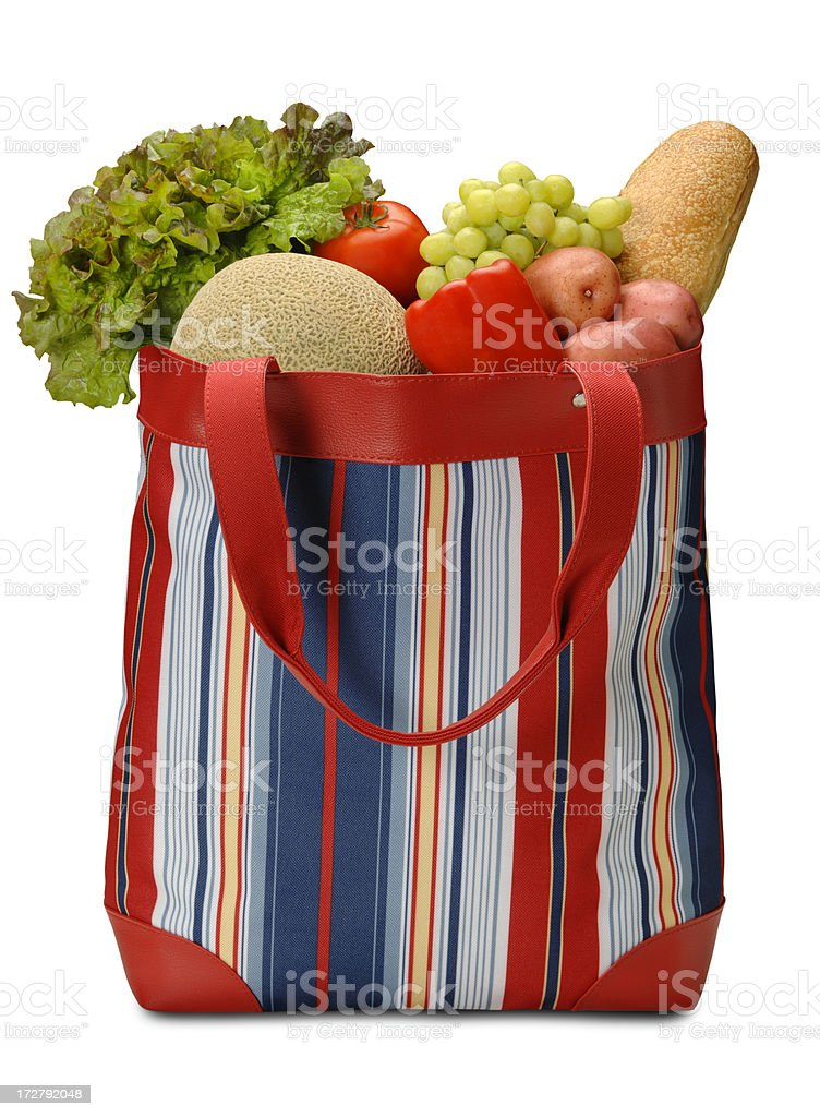 Reusable Grocery Sack royalty-free stock photo
