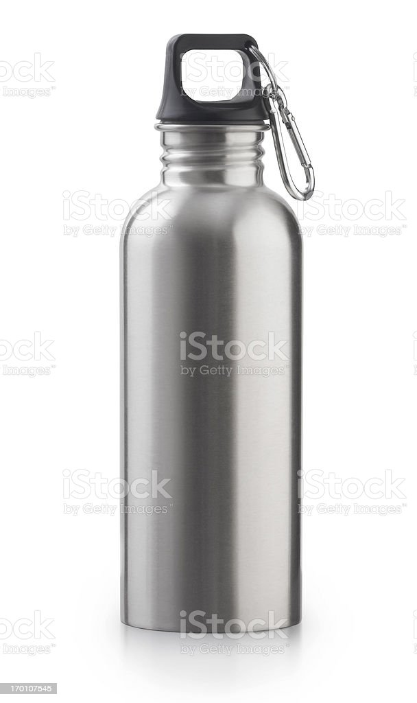 Reusable Stainless Steel Water Bottle stock photo