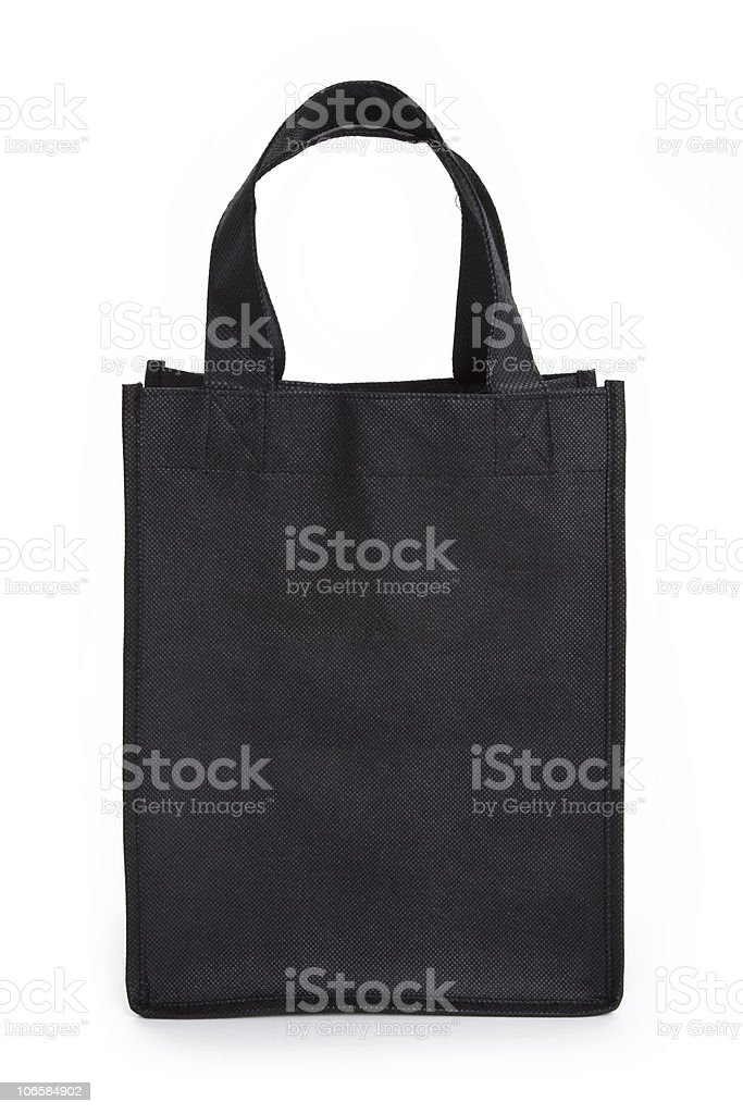 A reusable tote bag in the color black royalty-free stock photo