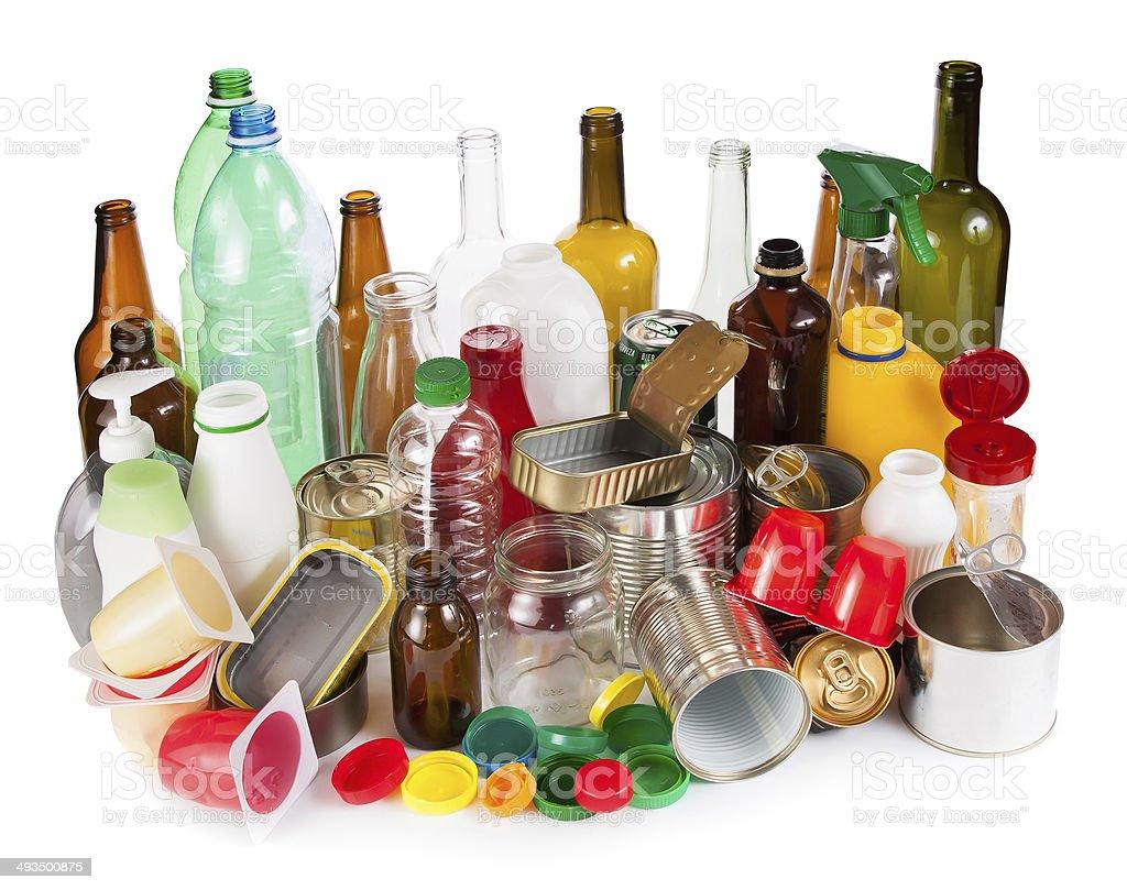 Reusable wastes stock photo