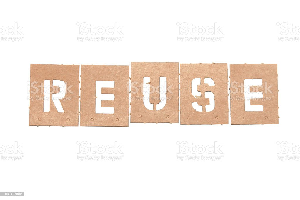 Reuse Stencil Word stock photo