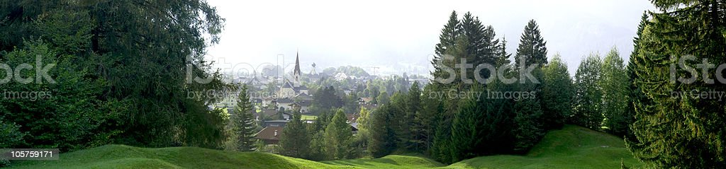 Reutte in Tyrol - Panorama royalty-free stock photo