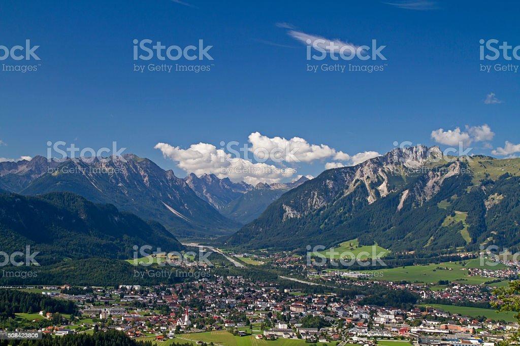 Reutte in Tyrol stock photo