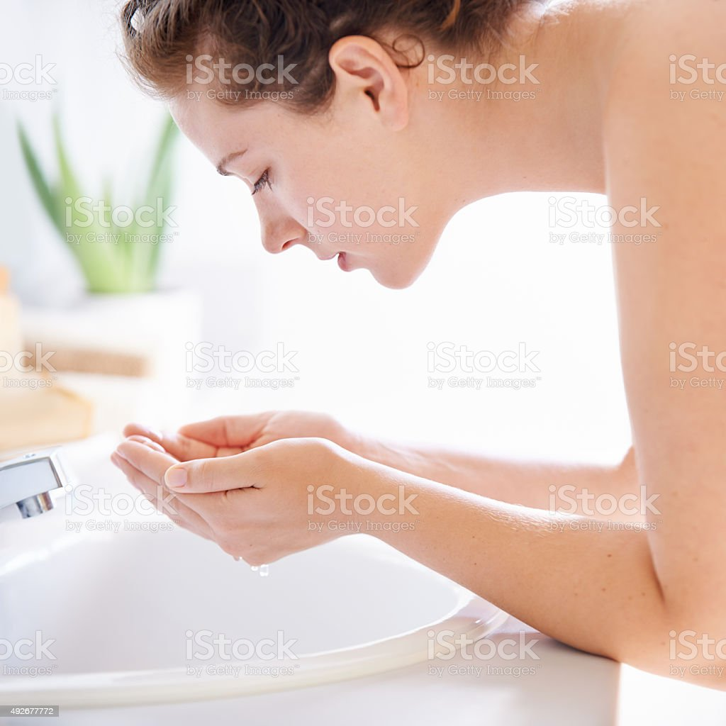 Reveal your naturally fair skin stock photo