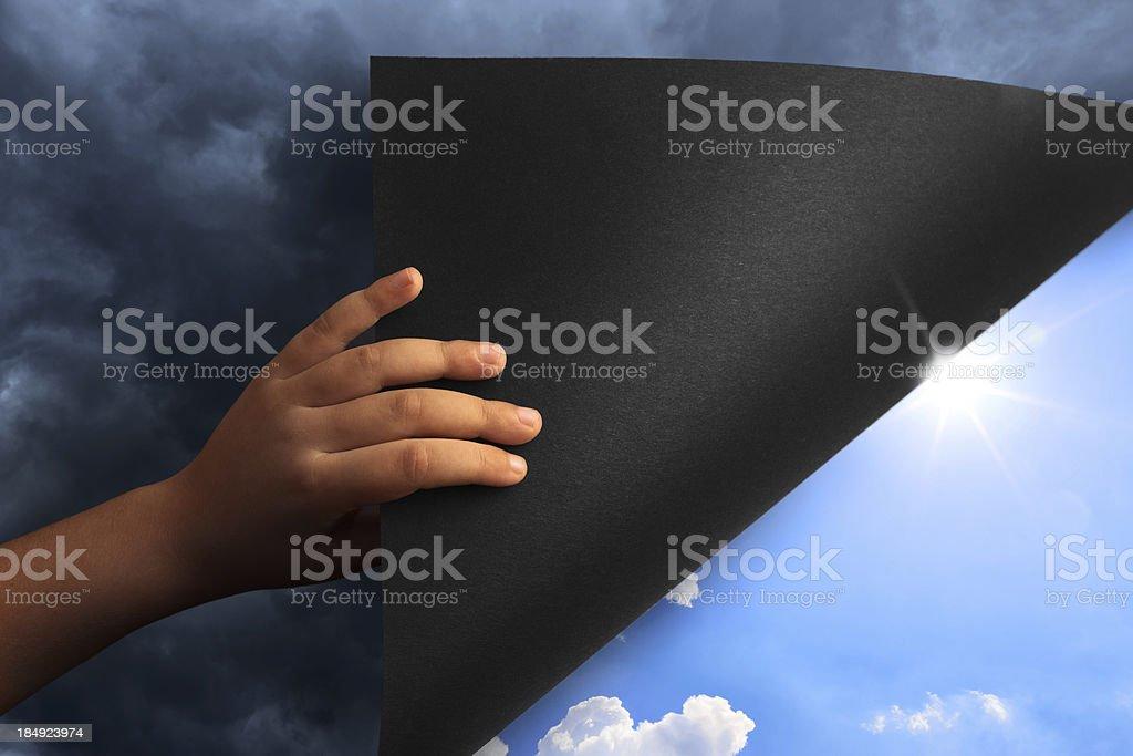 Revealing Blue Sky royalty-free stock photo
