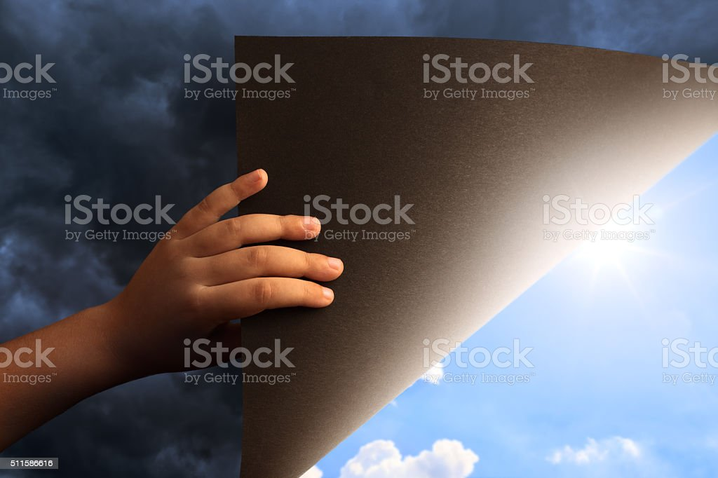 Revealing Blue Sky stock photo