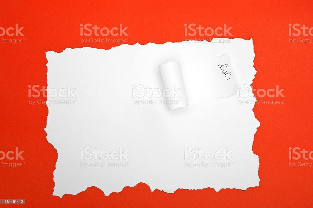 Dévoilant papier photo libre de droits
