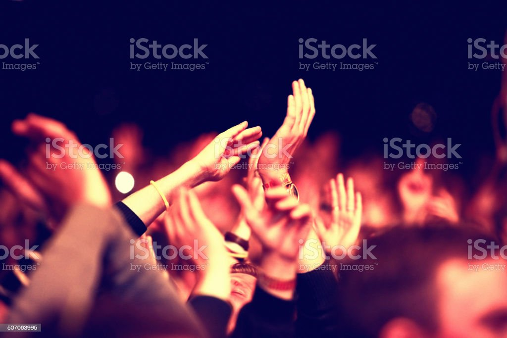 Revelling in the atmosphere stock photo