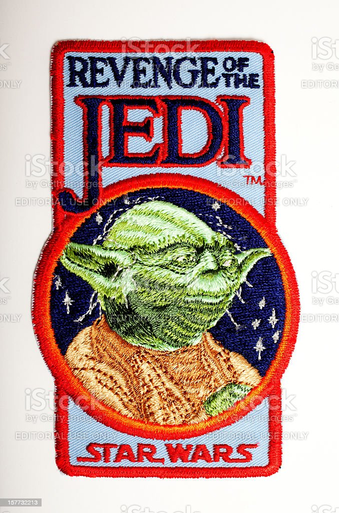 Revenge Of The Jedi Crew Patch 1982 stock photo