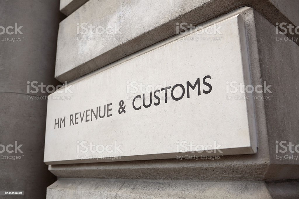 HM Revenue & Customs Sign (XXXL) stock photo