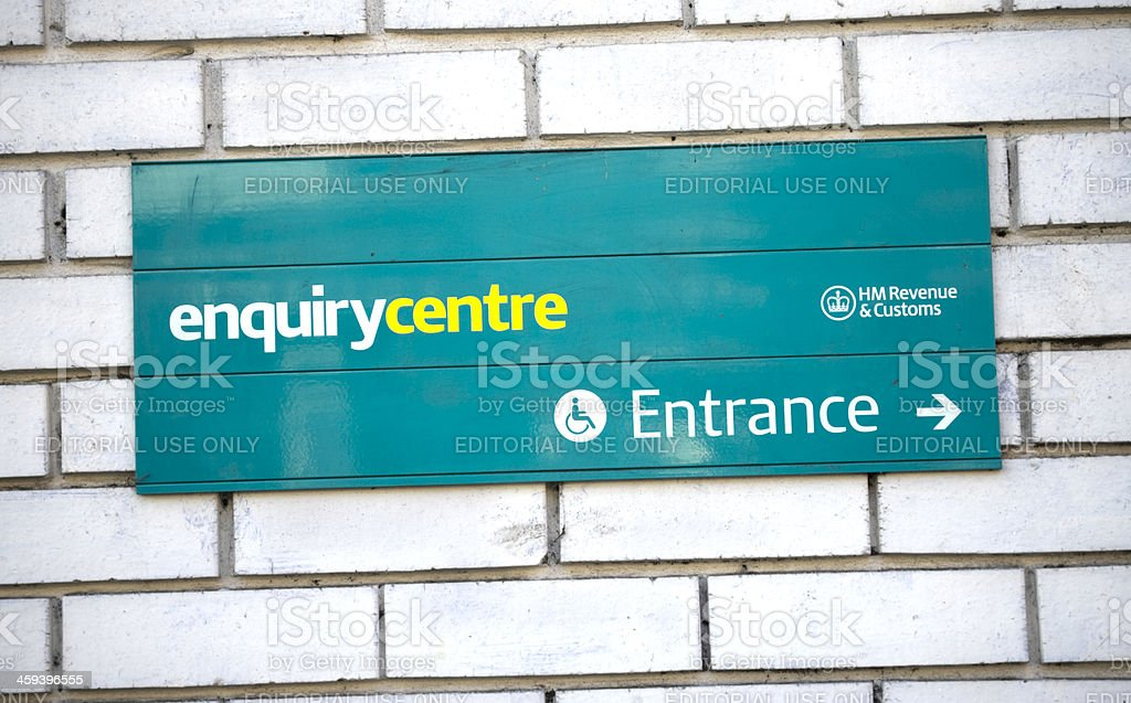 HM Revenue and Customs Enquiry Centre stock photo