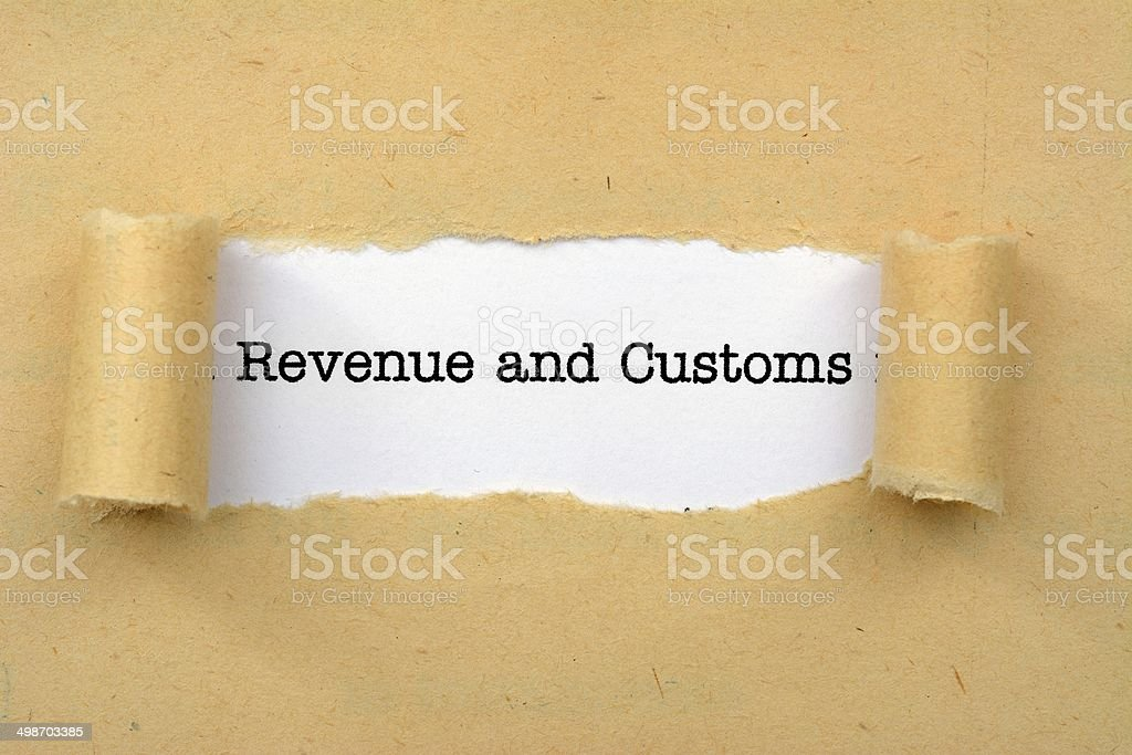 Revenue and customs stock photo