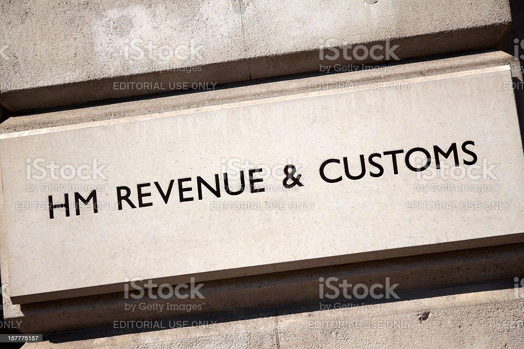 HM Revenue & Customs sign stock photo