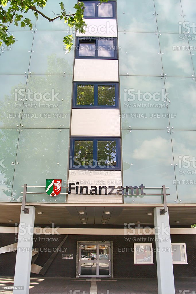 revenue-office in paderborn, germany stock photo