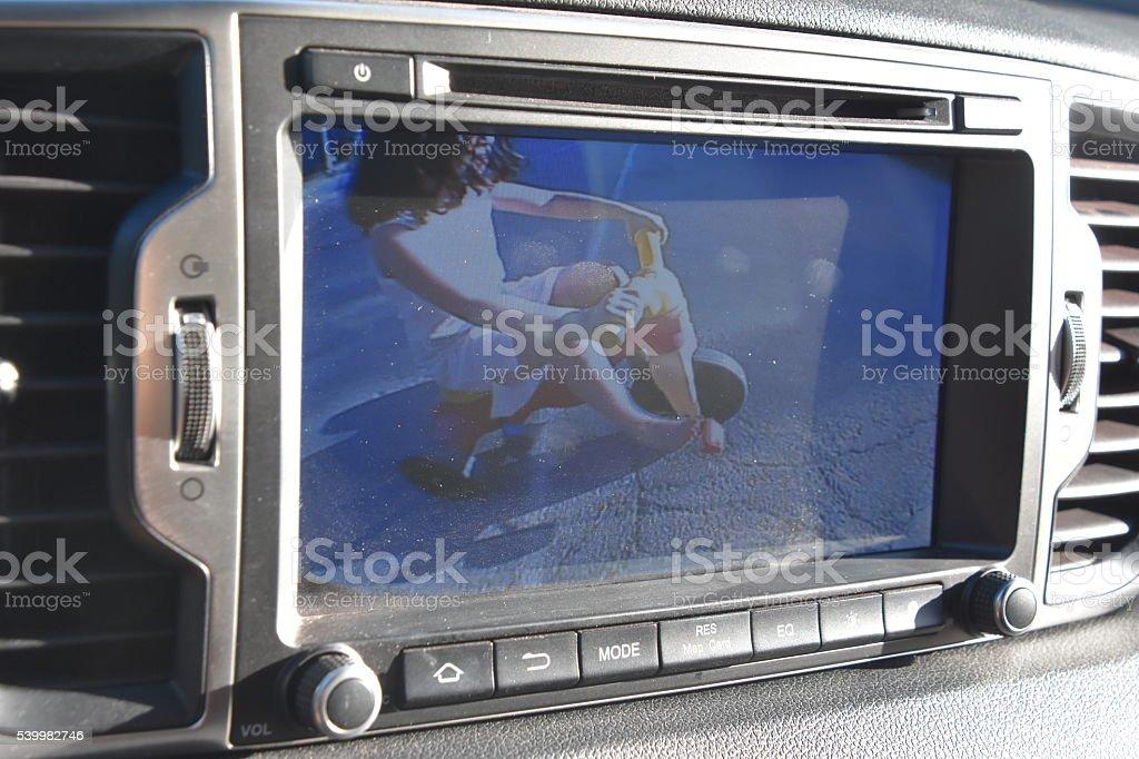 reverse camera Saving lives stock photo
