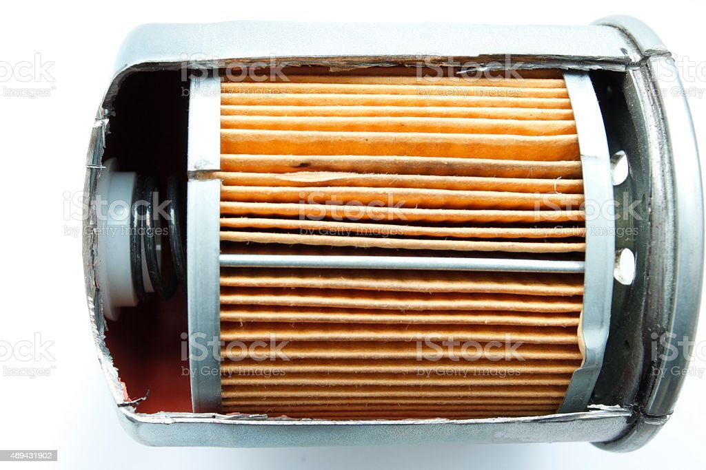 Reverse engineer fuel filter product stock photo
