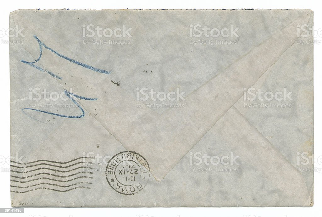 Reverse envelope postmark royalty-free stock photo