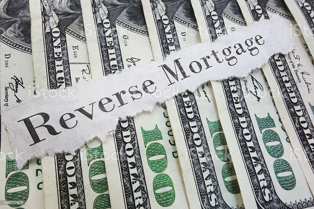 reverse mortgage stock photo