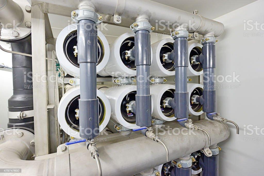 reverse osmosis equipment stock photo