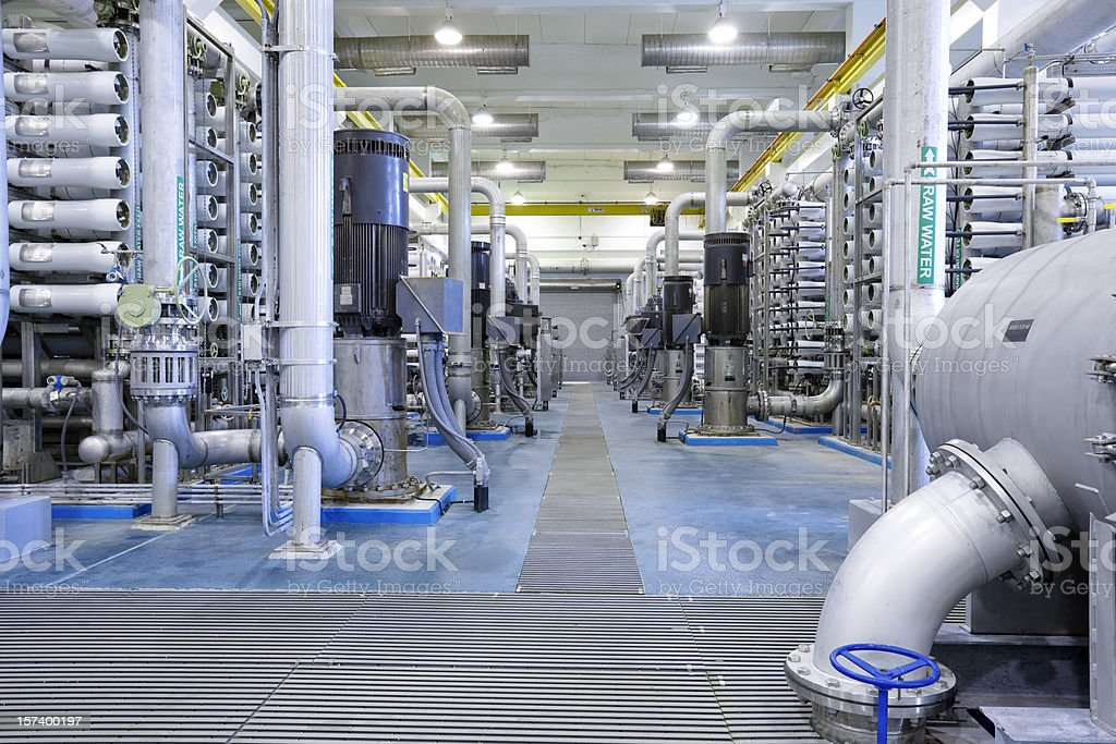 Reverse Osmosis Water Treatment Plant royalty-free stock photo