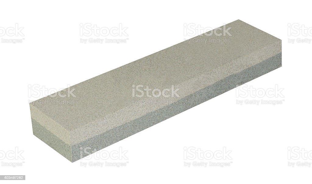 Reversible Water Whetstone On White Background stock photo