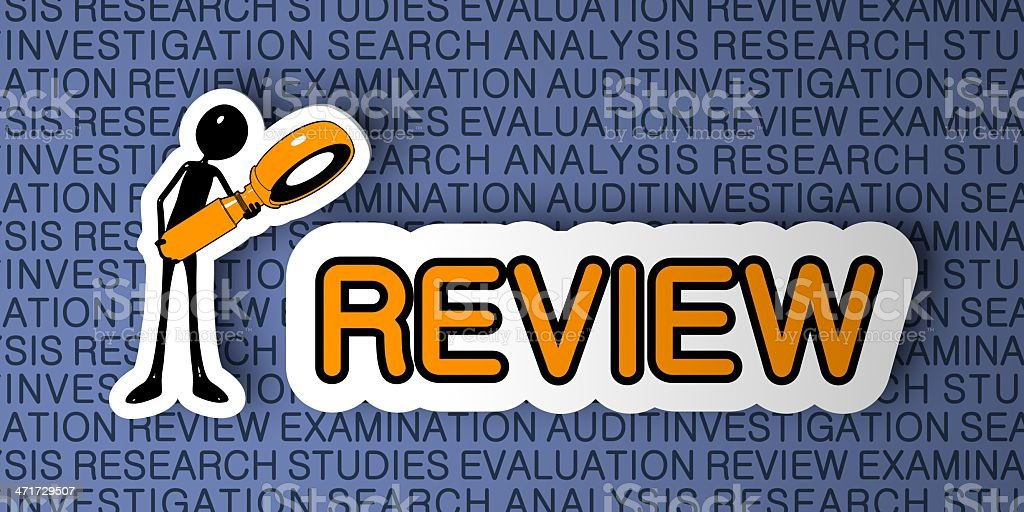 Review Concept. royalty-free stock photo