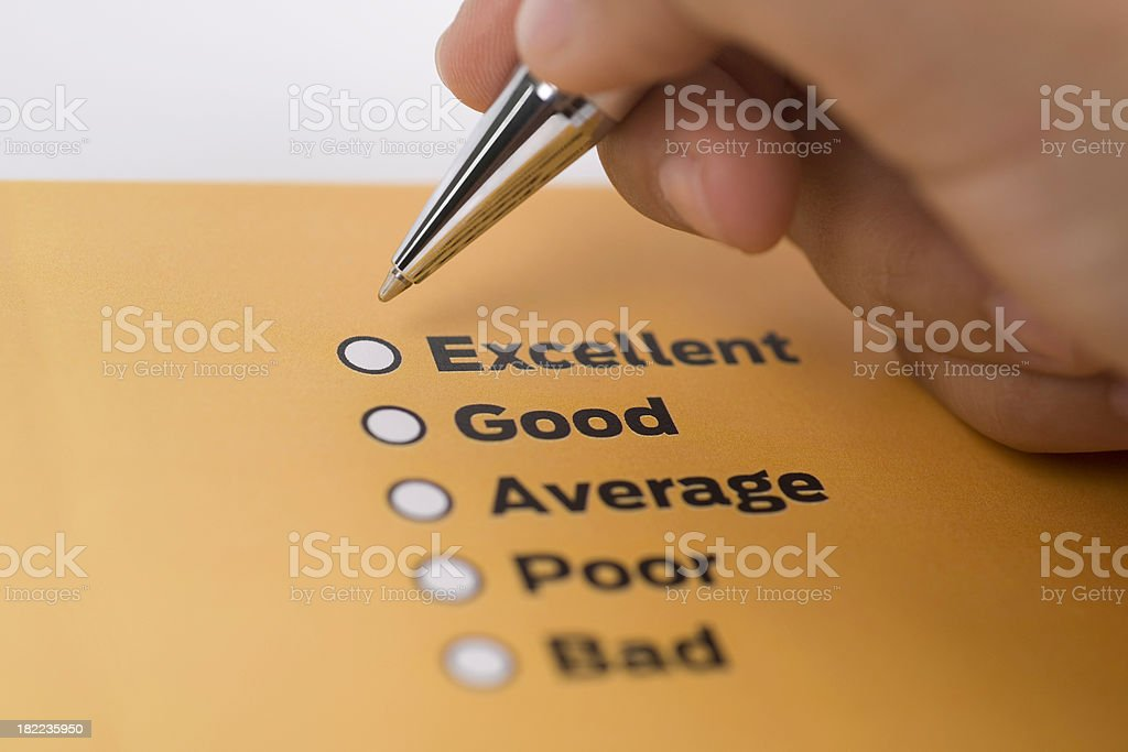 Review form stock photo