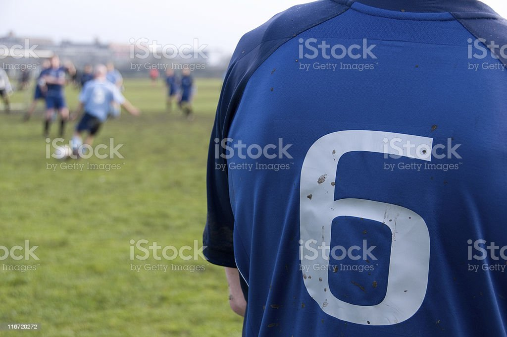Review of a soccer player in a match royalty-free stock photo