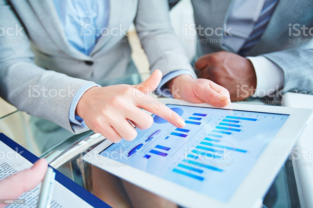 Review of fluctuations stock photo